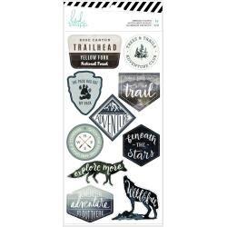 Heidi Swapp Wolf Pack Embossed Stickers 10/Pkg