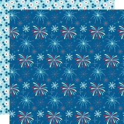 BB Fireworks & Freedom Double-Sided Cardstock 12X12 Boom Boom