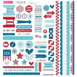 BB Fireworks & Freedom Cardstock Stickers 12X12 Doohickey