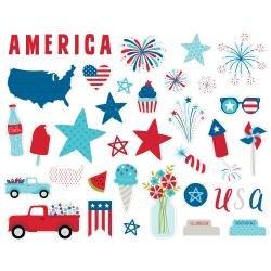 BB Cardstock Ephemera Icons, Fireworks & Freedom
