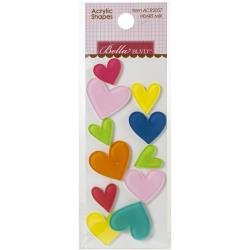 BB Home Sweet Home Acrylic Shapes Heart Mix