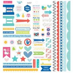 BB Splash Zone Cardstock Stickers 12X12 Doohickey