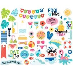BB Bella Blvd Cardstock Ephemera Icons, Splash Zone