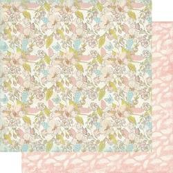 Authentique  Dreamy Double-Sided Cardstock 12X12 #1 Floral