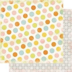 Authentique  Dreamy Double-Sided Cardstock 12X12 #2 Multi Color Dot