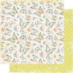 Authentique  Dreamy Double-Sided Cardstock 12X12 #3 Butterflies