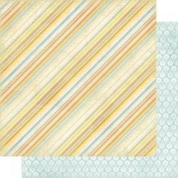 Authentique Dreamy Double-Sided Cardstock 12X12 #4 Diagonal Stripe