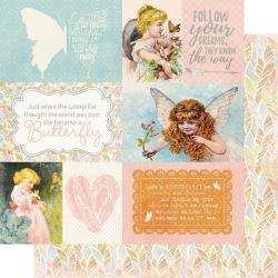 Authentique Dreamy Double-Sided Cardstock 12X12 #6 Cut-Apart Images & Sentiments