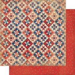 Authentique Liberty Double-Sided Cardstock 12X12 #2 Handmade Quilt