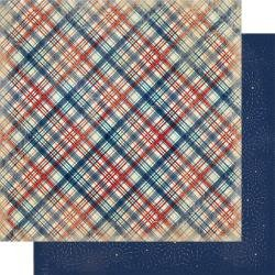Authentique Liberty Double-Sided Cardstock 12X12 #4 Diagonal Plaid