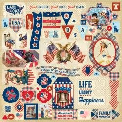 Authentique Liberty Cardstock Stickers 12X12 Details