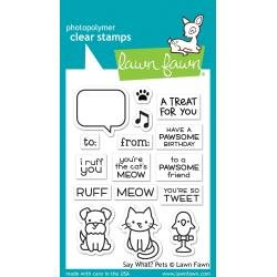 Lawn Fawn Clear Stamps 3X2 Say What? Pets