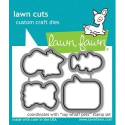 Lawn Cuts Custom Craft Die Say What? Pets