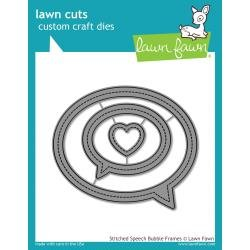 Lawn Cuts Custom Craft Die Stitched Speech Bubble Frames
