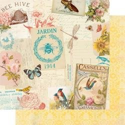 Authentique Endless Double-Sided Cardstock 12X12 #3 Collage