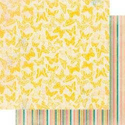 Authentique Endless Double-Sided Cardstock 12X12 #5 Yellow Butterflies