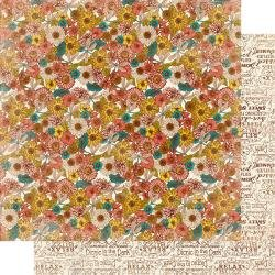 Authentique Endless Double-Sided Cardstock 12X12 #6 Summer Floral W/Dragonflies
