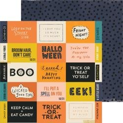 CP Hey, Pumpkin Double-Sided Cardstock 12X12 Eeek