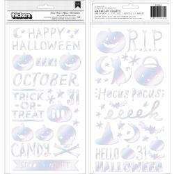 CP Hey, Pumpkin Thickers Stickers 131/Pkg Hocus Pocus Phrase & Icons/Puffy