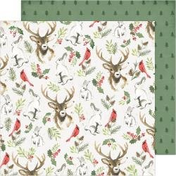 ACHS Winter Wonderland Double-Sided Cardstock 12X12 Woodland Wonderland