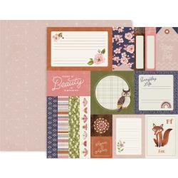 Pink Paislee Again & Again Double-Sided Cardstock 12X12 #1