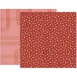 Pink Paislee Again & Again Double-Sided Cardstock 12X12 #3