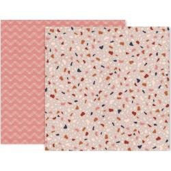 Pink Paislee Again & Again Double-Sided Cardstock 12X12 #6