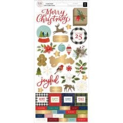 Pink Paislee Together For Christmas Cardstock Stickers 5.5X12 101/Pkg Accents & Phrases