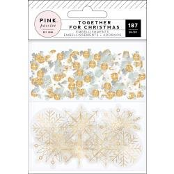 Pink Paislee Together For Christmas Mixed Embellishments Pack