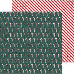 PB Merry Little Christmas Double-Sided Cardstock 12X12 Candy Cane