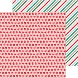 PB Merry Little Christmas Double-Sided Cardstock 12X12 Peppermint Candies