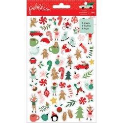 PB Merry Little Christmas Mini Sticker Book 299/Pkg W/Gold Foil Accents