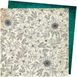AC Vicki Boutin Wildflower & Honey Dbl-Sided Cardstock 12X12 Full Bloom
