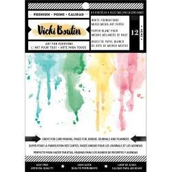 AC Vicki Boutin Mixed Media Foundations Paper 6X8 12/Pkg Smooth White, 140lb