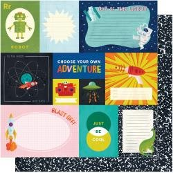 AC Shimelle Field Trip Double-Sided Cardstock 12X12 Choose Adventure