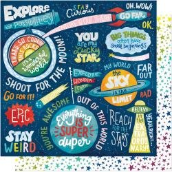 AC Shimelle Field Trip Double-Sided Cardstock 12X12 Stay Curious