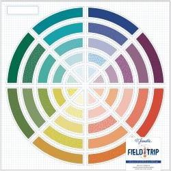 AC Shimelle Field Trip Die-Cut Cardstock 12X12 Color Wheel