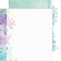 Pinkfresh Studio Just A Little Lovely Double-Sided Cardstock 12X12 Hope