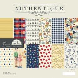 Authentique Double-Sided Cardstock Pad 8X8 24/Pkg Scholastic
