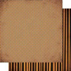Authentique: Twilight Double-Sided Cardstock 12X12 #5 Halloween Gingham
