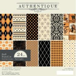 Authentique Double-Sided Cardstock Pad 8X8 24/Pkg Twilight