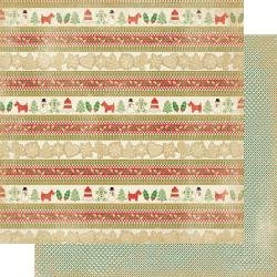 Authentique: Rejoice Double-Sided Cardstock 12X12 #17 Cookie Border Strips