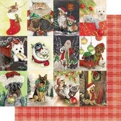 Authentique: Rejoice Double-Sided Cardstock 12X12 #21 Vintage Pets...