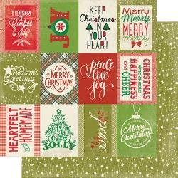 Authentique: Rejoice Double-Sided Cardstock 12X12 #22 Classic Christmas...