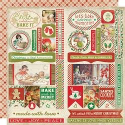Authentique: Rejoice Double-Sided Cardstock Die-Cut Sheet 12X12 Elements
