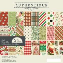 Authentique Double-Sided Cardstock Pad 8X8 24/Pkg Rejoice