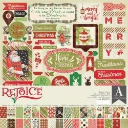Authentique Collection Kit 12X12 Rejoice, Essentials