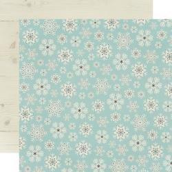 Simple Stories Winter Farmhouse Double-Sided Cardstock 12X12 Feelin' Frosty