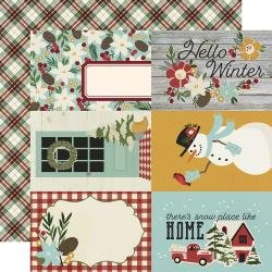 Simple Stories Winter Farmhouse Double-Sided Cardstock 12X12 4X6 Elements