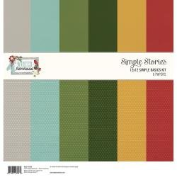 Simple Stories Basics Double-Sided Paper Pack 12X12 6/Pkg Winter Farmhouse